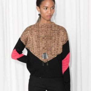 & Other Stories, cork oak print, cropped sweater
